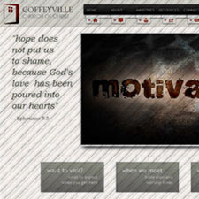 Coffeyville, Kansas small business, church, camp, and ministry website design and management. Flint Hills Christian Camp.