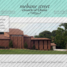 Burlington, North Carolina small business and church website design and management. Mebane Street church of Christ.