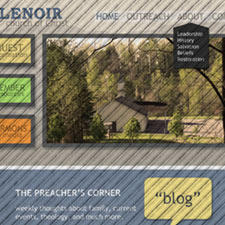 Lenoir, North Carolina small business and church website design and management. Lenoir church of Christ.