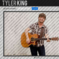 Tyler King, new contemporary country singer and song-writer based in Nashville, Tennessee, originally from Wann, Oklahoma near Bartlesville, Oklahoma.